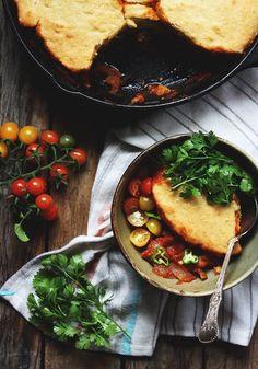 Summer Chili Cornbread Cobbler by thekitchn #Chili #Cornnbread