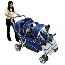 Discount School Supply - Angeles® SureStop® Folding Commercial Bye-Bye® Stroller - 6 Seat  A little more portable looking then the great big plastic model.