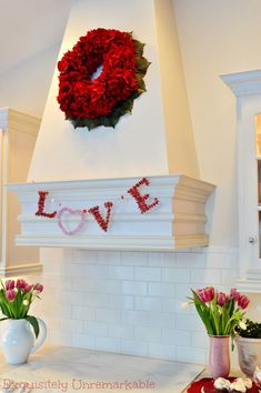 Whip up an elegant LOVE garland made from puzzle pieces. It's an inexpensive, easy craft and a stunning home décor DIY for Valentine's Day, wedding day or shower decorations! Valentine Banner, Valentine Day Crafts, Valentine Decorations, Love Valentines, Holiday Crafts, Valentine Ideas, Red Hydrangea, Hydrangea Wreath, Easter Garland