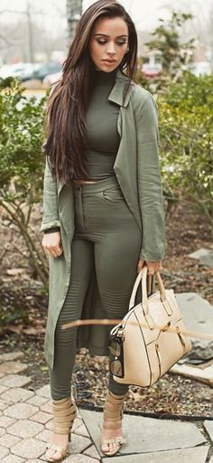 ♡✿♔Olive green fall color♔✿✝♡ #fallfashion #fashioninspiration