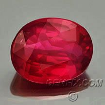 untreated Ruby oval