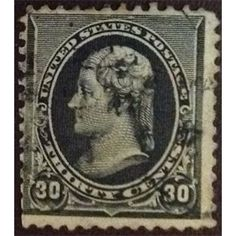 United States Postage, Thomas Jefferson, 30 Cents, 1890-1893 used