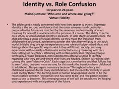 I pinned this because Identity vs. Role confusion is one of Erikson's stages. This pin gives good information on the stage.