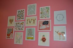 Love this gallery wall for a baby Ivy!