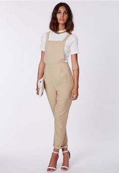 We go back to tailoring season after season for a look that never fades and these #camel #dungarees will be the ideal addition to your wardrobe. With their classic fit and effortless shape, they'll take you from every event in style. We plan on wearing ours over an open back #bodysuit and #Missguided strappy sandals.