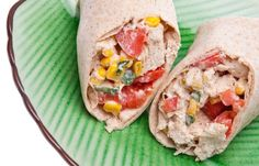 Close Up of Southwestern Chicken Salad Wrap