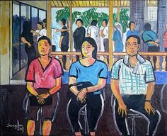 Waiting at the Train Station by Khan Siong Ann – jen@yanggallery.com.sg - YangGallery