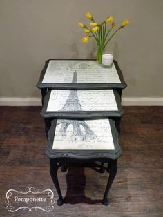 painted wood nest of tables - Google Search