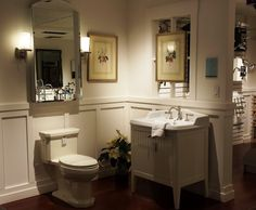 Ronbow Laurel vanity with California Faucets tap, Kohler Kathryn ...