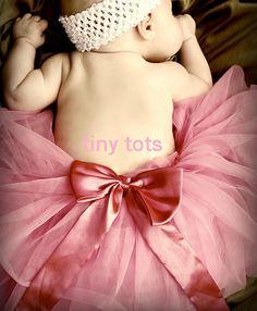 Vintage Pink Couture tutu baby tutu infant by TinyTotsTutuBoutique, $22.00