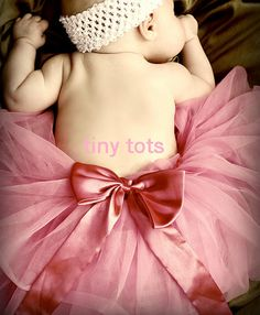 Vintage Pink Couture tutu baby tutu infant by TinyTotsTutuBoutique, $22.00