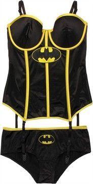 Batman Corset and Briefs Lingerie Set