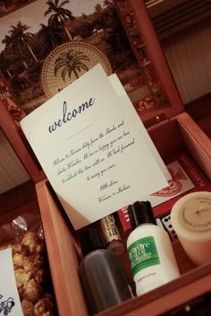 what to include in a wedding welcome gift  www.julieblanner.com