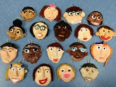 crayola model magic clay self-portraits-2nd grade- Art with Mr. Giannetto blog