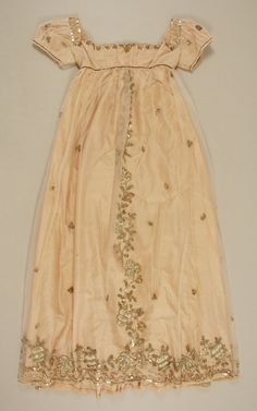 Early 1800's.  I think it might have been a child's clothing. But it's pretty.