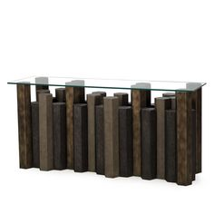 TIERNEY CONSOLE TABLE.BROWN