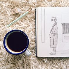 COFFEE IS HERE! Yaaaay, let the day begin!  What are you up to today? #drawing #coffee #morning #andsmilestudio Drawing Coffee, Let It Be, Day, Drawings, Instagram Posts, Studio, Sketches, Studios, Drawing