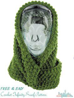 Easy & Free Crochet Infinity Scarf Pattern