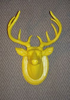 A cheeky homage to my deer-killing South Dakota roots. Western Furniture, Log Furniture, Furniture Design, Stag Deer, Oh Deer, Deer Mounts, Hanging Necklaces, Faux Taxidermy, Furniture Collection