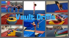 To help your athletes become better at vault it is very important to dissect the skill. Breaking the skill into pieces allows you to work on different parts of the vault on different days. Check out these ideas for front handspring vault drills. Gymnastics Warm Ups, Gymnastics At Home, Gymnastics Levels, All About Gymnastics, Gymnastics Skills, Gymnastics Equipment, Gymnastics Coaching, Amazing Gymnastics, Gymnastics Training