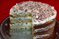 cannoli cake. A 3 step process but easy for each step. It was super yummy. I topped mine with chopped pistatios but dont do it to soon before eating or the nuts get soggy. A MUST: drain your ricotta over night in a collander lined with paper towels or it will be a soggy cake. And get the sweet ricotta.