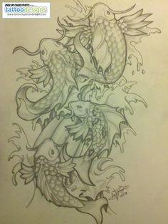 Koi Fish Tattoo Drawing By Abnormega Art Nc