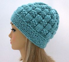 Hat Knitting Pattern, Beanie, Tam, Cloche – Knitting For Beginners 2020 Baby Knitting Patterns, Loom Knitting, Knitting Stitches, Knitting Designs, Knitting Projects, Hand Knitting, Crochet Patterns, Knitting Needles, Knitted Hats