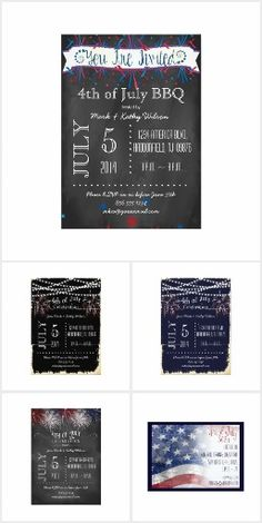 Sparkling 4th of July Invites
