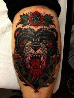 Fierce Bear Tattoo By Luke Jinks