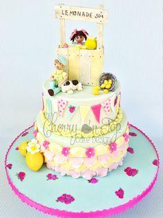 Birthday Cakes - Sweet Lemonade Stand Cake