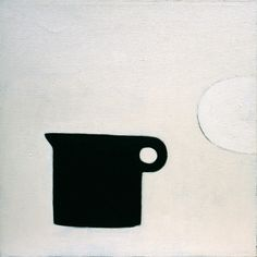 William Scott, Black Jug, 1979, Oil on canvas, 50.5 × 50.6 cm / 20 × 20 in, Whereabouts unknown