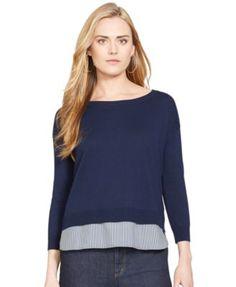 Lauren Ralph Lauren Petite Layered-Look Sweater