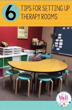 6 tips for setting up a speech & language therapy room in the schools that is student-centered, fun and efficient Speech Language Therapy, Speech Language Pathology, Speech And Language, Speech Therapy Activities, Play Therapy, Therapy Ideas, Articulation Activities, Articulation Therapy, Language Activities
