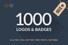 1000 Logos & Badges SALE by Piotr Łapa on @creativemarket