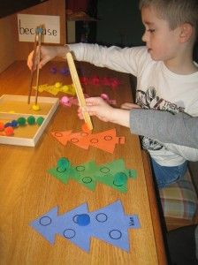 Fun, Christmas themed fine motor activity that strengthens the muscles in the hands that are needed for writing and scissor skills!