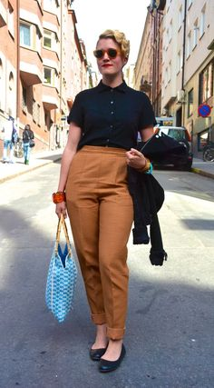 Street style in Stockholm. Spring and street style is blooming in Stockholm!