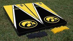 University of Iowa Hawkeyes Cornhole Bag Toss Game Set Triangle Version
