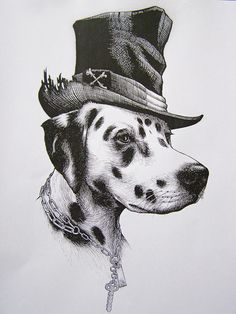 intricate ink drawings by the eccentric British artist Rory Dobner.