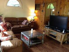 Buffalo Terrace in #Asheville from Asheville Connections- Living Room with Flat Screen TV