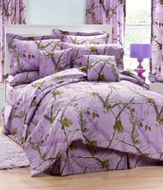 Lavender Camo Bedding and Accessories