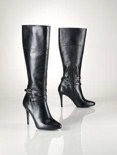 a004fcf882529 Stivali stile equestre in vacchetta - Lauren Scarpe - Ralph Lauren France  Beeeellloooooo!