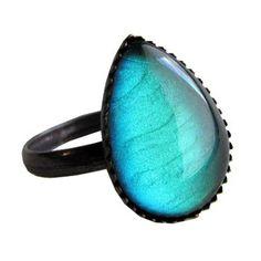 Absinthe Teardrop Ring  $14.00