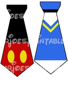 Mickey Mouse Pals Ties Printable Disney Iron Transfer PIY Goofy pluto Donald Duck Baby Shower Shirt Birthday DIY Printable. $5.00, via Etsy.