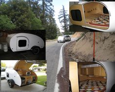 Teardrop travel trailer camping queen size bed, microwave, stove and oven. FUN TO GET AWAY !