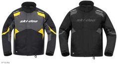 Ski Doo Mens Holeshot Jacket 2013 Black Yellow 440579 Ecklund Motorsports $84.54!