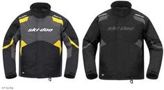 Ski Doo Mens Holeshot Jacket 2013 Black Yellow 440579 Ecklund Motorsports $84.54!