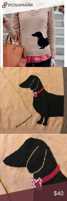 Dachshund Sweater Sz Medium Ann Taylor Measurements to come! Also have the same one listed it is a size small and it is new with tags. This is a size medium. This has been worn, it's still adorable exclamation point it has a very light showing of wear. No stains or holes. Ann Taylor Sweaters Crew & Scoop Necks