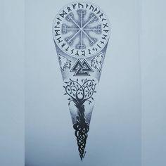 Viking Tattoos For Men, Viking Rune Tattoo, Norse Tattoo, Cool Forearm Tattoos, Hand Tattoos, Cool Tattoos, Hot Guys Tattoos, Small Tattoos For Guys, Best Sleeve Tattoos