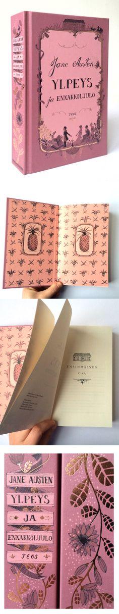 Jane Austen, Ylpeys ja ennakkoluulo. Design, Elina Warsta / Solmu.