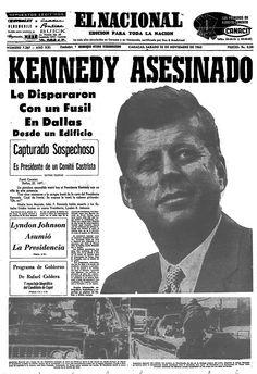 Asesinato de Kennedy. Publicado el 23 de noviembre de 1963.